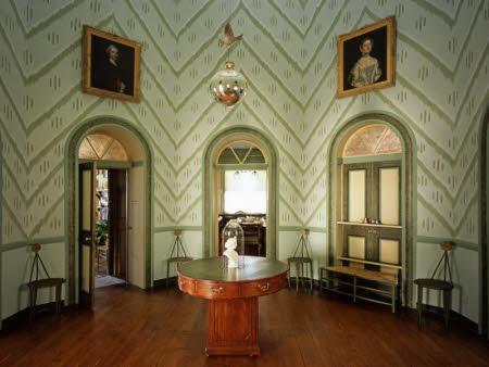 The Octagon Room at A la Ronde, Devon.